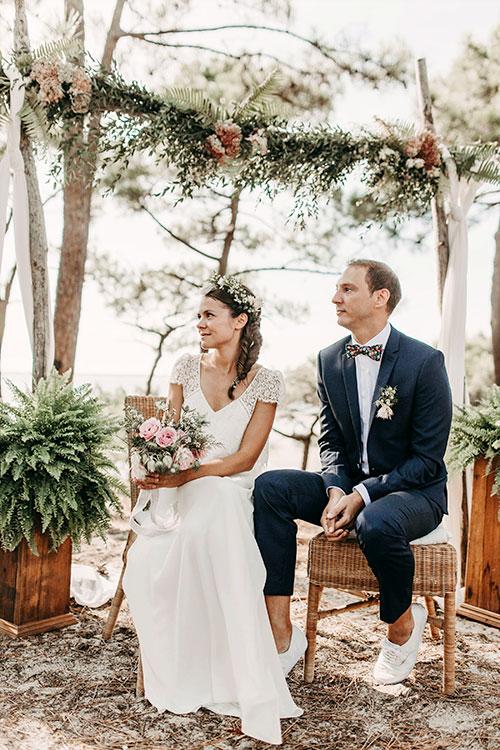 Mariage Elise et Alexandre au Moulleau par Jenny Morel Weddings