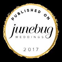 Junebug Weddings parle d'un mariage de Jenny Morel Weddings