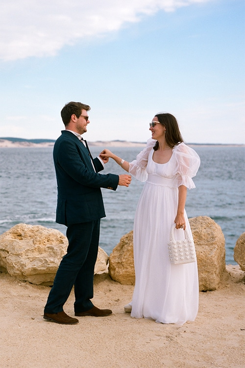Mariage Sasha et Edward au Cap Ferret par Jenny Morel Weddings